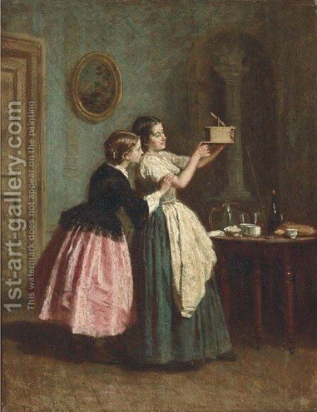The trap by Theophile-Emmanuel Duverger - Reproduction Oil Painting