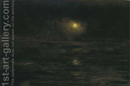 Moonlit Shore by Alexander Thomas Harrison - Reproduction Oil Painting