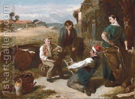The young puppeteers by Charles Thomas Bale - Reproduction Oil Painting