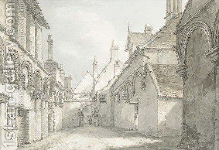The infirmary chapel, Ely, looking East by Thomas Hearne - Reproduction Oil Painting