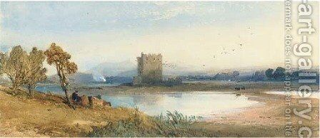 Loch Awe by Thomas Miles Richardson, Jnr. - Reproduction Oil Painting
