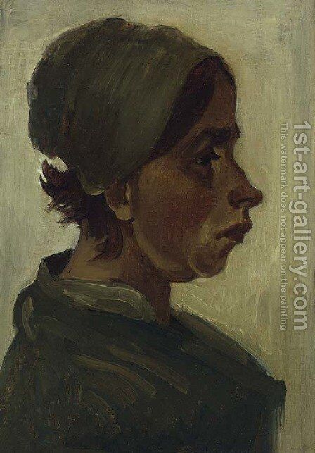 Peasant Woman, Head by Vincent Van Gogh - Reproduction Oil Painting