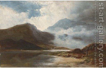 A mountain mist, North Wales by Walter Williams - Reproduction Oil Painting