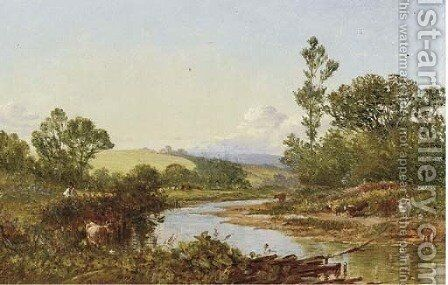 On the Otter near St. Mary Ottery by Walter Williams - Reproduction Oil Painting