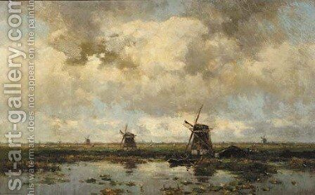 Molens bij Elshout by Willem Cornelis Rip - Reproduction Oil Painting