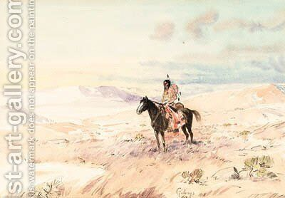 Indian on Horseback by Elling William Gollings - Reproduction Oil Painting