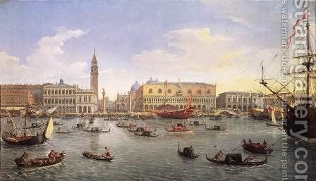 The Molo Seen from the Bacino di San Marco 1697 by Caspar Andriaans Van Wittel - Reproduction Oil Painting