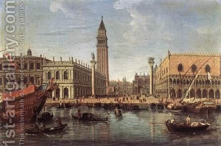 The Piazzetta from the Bacino di San Marco c. 1700 by Caspar Andriaans Van Wittel - Reproduction Oil Painting