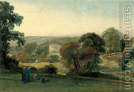 Alresford Grange, Hampshire by William Leighton Leitch - Reproduction Oil Painting