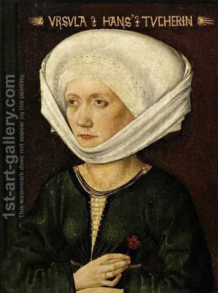 Portrait Of Ursula Tucher 1478 by Michael Wolgemut - Reproduction Oil Painting