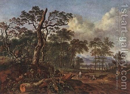Road beside the Forest by Jan Wynants - Reproduction Oil Painting