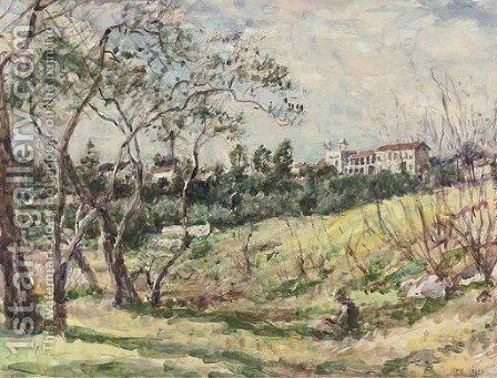 Sketching in the South of France by Mark Fisher - Reproduction Oil Painting