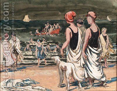 Women on the Beach by William Samuel Horton - Reproduction Oil Painting