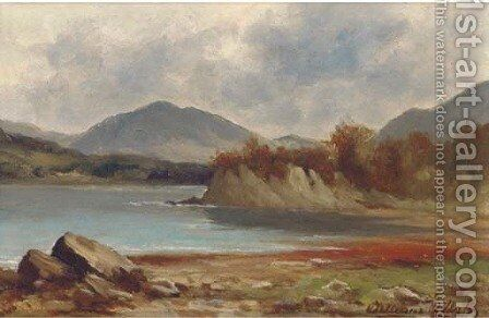 A lakeland landscape; and Another similar by James William Wells - Reproduction Oil Painting