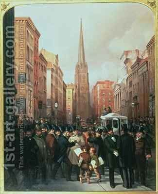 Wall Street by J.H. and Rosenburg, C. Cafferty - Reproduction Oil Painting