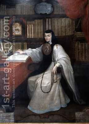 Portrait of Sor Juana Ines de la Cruz by Miguel Cabrera - Reproduction Oil Painting