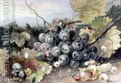 Grapes and Strawberries by Anne Frances Byrne - Reproduction Oil Painting