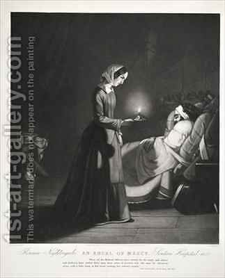 Florence Nightingale by Butterworth - Reproduction Oil Painting