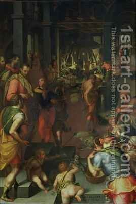The Glassworks by Giovanni Maria Butteri - Reproduction Oil Painting