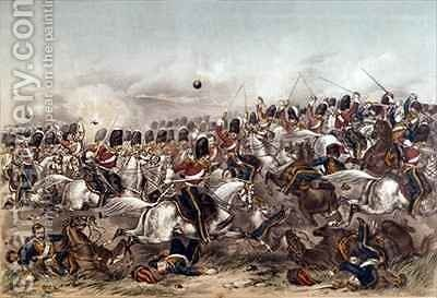 Battle of Balaclava Brilliant charge of the Scots Greys by Augustus Butler - Reproduction Oil Painting