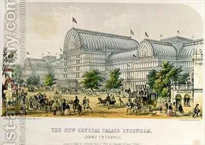 The New Crystal Palace Sydenham, Grand Entrance by Augustus Butler - Reproduction Oil Painting