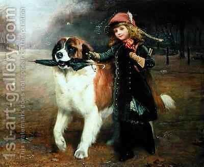 Off to School by Charles Burton - Reproduction Oil Painting