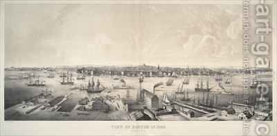 View of Boston from the east by Charles Burton - Reproduction Oil Painting