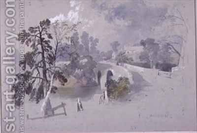 Canonbie, Dumfriesshire by James Burrell-Smith - Reproduction Oil Painting