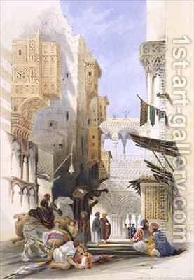 Street Leading to El Azhar, Grand Cairo by A. Margaretta Burr - Reproduction Oil Painting