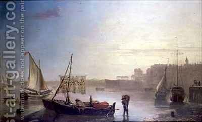 View on the Thames by James M. Burnet - Reproduction Oil Painting
