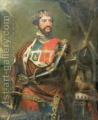 Portrait of Edward, Prince of Wales 1330-76 by Benjamin Burnell - Reproduction Oil Painting