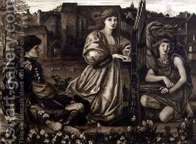 Chant d'Amour by (after) Sir Edward Coley Burne-Jones - Reproduction Oil Painting