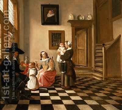 A Family in an Interior by Hendrik van der Burgh - Reproduction Oil Painting