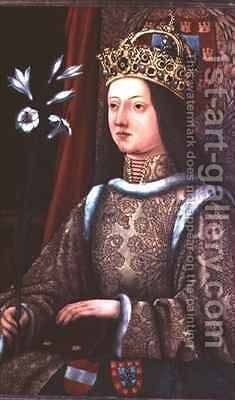 Queen Eleanor of Portugal (1434-67) wife of Frederick III (1415-93) by Hans, the elder Burgkmair - Reproduction Oil Painting