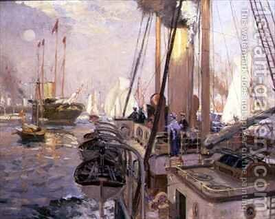 The Royal Yacht 'Victoria and Albert' by Henry William Burgess - Reproduction Oil Painting