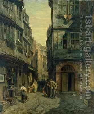 The Jewish Quarter in Frankfurt by Anton Burger - Reproduction Oil Painting