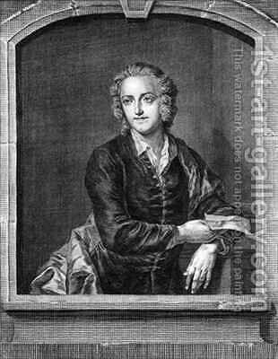 Portrait of Thomas Gray (1716-71) by (after) Burckhardt, John Giles - Reproduction Oil Painting