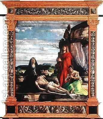 The Deposition by Giovanni Buonconsiglio - Reproduction Oil Painting