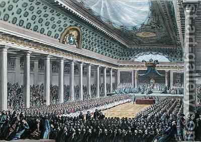 Opening of the Estates General at Versailles by (after) Bulthuis, Jan - Reproduction Oil Painting