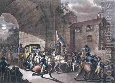 The Arrest of Louis XVI (1754-93) at Varennes 2 by (after) Bulthuis, Jan - Reproduction Oil Painting