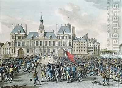 The Heads of Launay and Flesselles Promenaded before the Hotel de Ville by (after) Bulthuis, Jan - Reproduction Oil Painting