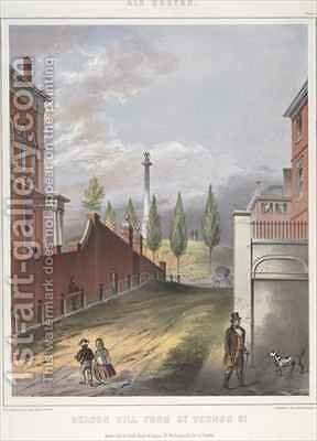Beacon Hill from Mt. Vernon Street, Boston 2 by (after) Bufford, John Henry - Reproduction Oil Painting