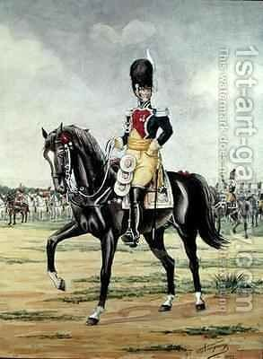 Anne Savary, Duke of Rovigo, Reviewing the Gendarmerie Troops in 1801 by Bucquoy - Reproduction Oil Painting