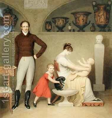 The Artist and his Family by Adam Buck - Reproduction Oil Painting