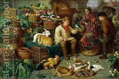 Market Scene by Henry Charles Bryant - Reproduction Oil Painting