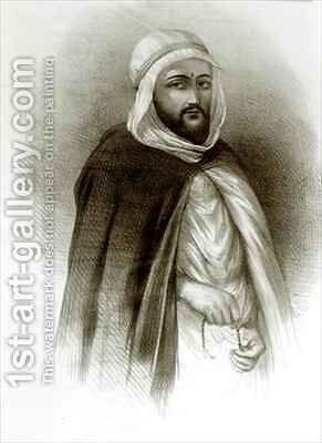 Portrait of Abd-El-Kader by Auguste Bry - Reproduction Oil Painting