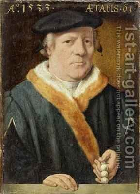 Portrait of a 61 year-old Man by Bartholomaeus, the Elder Bruyn - Reproduction Oil Painting