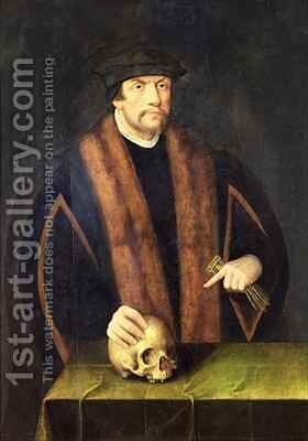 Portrait of a Man by Bartholomaeus, the Elder Bruyn - Reproduction Oil Painting
