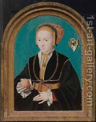 Margarethe von Aich (1517-70) by Bartholomaeus, the Elder Bruyn - Reproduction Oil Painting