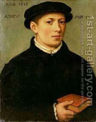 Portrait of a Young Man 2 by Bartholomaeus, the Elder Bruyn - Reproduction Oil Painting